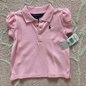 Ralph Lauren Baby Girls Pink Polo Shirt 18m
